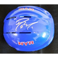 Dylan McIlrath New York Rangers Signed Mini Helmet Steiner Sports Authenticated