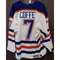 Paul Coffey Signed Edmonton Oilers NHL Hockey CCM Jersey 48 JSA Authenticated