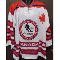 Gaston Gingras Signed Legends Classic Canada Jersey Size XL JSA Authenticated