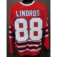 Eric Lindros Signed Oshawa Generals CCM Jersey Size Large JSA Authenticated