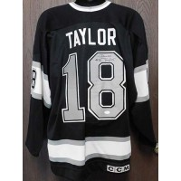 Dave Taylor Signed Los Angeles Kings CCM Jersey Size 52 JSA Authenticated