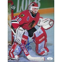 Ed Belfour Chicago Blackhawks Signed 8.5x11 Magazine Page JSA Authenticated
