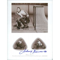 Johnny Bower Toronto Maple Leafs Signed 5.5x7.25 Card Stock Promo JSA Authenticated