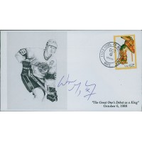Wayne Gretzky Signed The Great One's Debut as a King Cachet JSA Authenticated