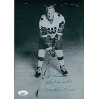 Gordie Howe Hartford Whalers Signed 7x10 Magazine Page Photo JSA Authenticated