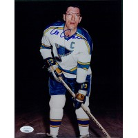 Al Arbour St. Louis Blues Signed 8x10 Glossy Photo JSA Authenticated