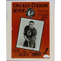Al Arbour Chicago Blackhawks Signed 8x10 Glossy Photo JSA Authenticated