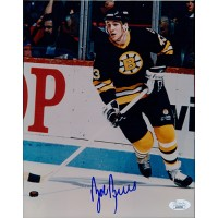 Bob Beers Boston Bruins Signed 8x10 Glossy Photo JSA Authenticated