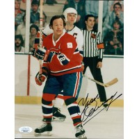 Yvan Cournoyer Montreal Canadiens Signed 8x10 Glossy Photo JSA Authenticated