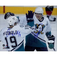 Anaheim Ducks Teemu Selanne & Andy McDonald Signed 8x10 Photo JSA Authenticated
