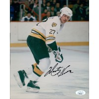 Marty Howe Boston Bruins Signed 8x10 Glossy Photo JSA Authenticated