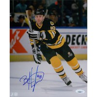 Brent Hughes Boston Bruins Signed 8x10 Glossy Photo JSA Authenticated