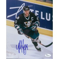 Paul Kariya Signed Anaheim Mighty Ducks 8x10 Photo JSA Authenticated