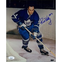 Red Kelly Toronto Maple Leafs Signed 8x10 Glossy Photo JSA Authenticated