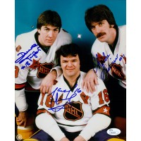 Los Angeles Kings Triple Crown Line Signed 8x10 Photo by Dave Taylor, Marcel Dionne and Charlie Simmer JSA Authenticated