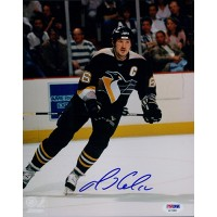 Mario Lemieux Signed Pittsburgh Penguins 8x10 Glossy Photo PSA/DNA Authenticated
