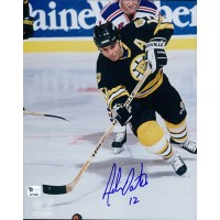 Adam Oates Signed Boston Bruins 8x10 NHL Glossy Photo Global Authenticated
