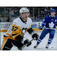 Carter Rowney Pittsburgh Penguins Signed 8x10 Matte Photo JSA Authenticated