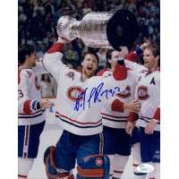 Patrick Roy Signed Montreal Canadiens Stanley Cup Champs 8x10 Photo JSA Authenticated