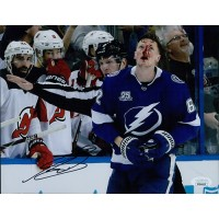 Andrej Sustr Tampa Bay Lightning Signed 8x10 Matte Photo JSA Authenticated