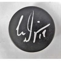 Chris Dingman Signed Blank Hockey Puck JSA Authenticated