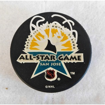 Theoren Fleury Signed 1997 All Star Game Hockey Puck JSA Authenticated