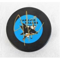 Jeff Friesen San Jose Sharks Signed Hockey Puck JSA Authenticated