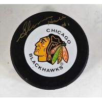 Glenn Hall Chicago Blackhawks Signed NHL Hockey Puck JSA Authenticated