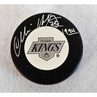 Charlie Huddy Los Angeles Kings Signed Hockey Puck JSA Authenticated