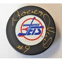 Bobby Hull Winnipeg Jets Signed Hockey Puck JSA Authenticated