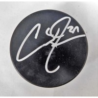 Curtis Joseph Signed Blank Hockey Puck JSA Authenticated