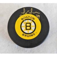 Joe Juneau Boston Bruins Signed Hockey Puck JSA Authenticated