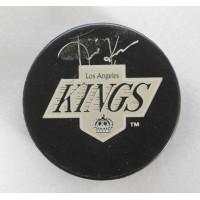 Jari Kurri Los Angeles Kings Signed NHL Hockey Puck UDA Upper Deck Authenticated