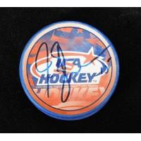 Jamie Langenbrunner Team USA Signed Hockey Puck JSA Authenticated