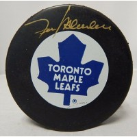 Frank Mahovlich Signed Toronto Maple Leafs NHL Hockey Puck UDA Upper Deck Authenticated