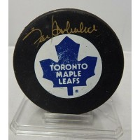 Frank Mahovlich Signed Toronto Maples Leafs NHL Hockey Puck UDA Authenticated