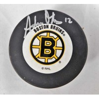 Adam Oates Boston Bruins Signed Hockey Puck JSA Authenticated