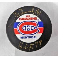 Henri Richard Montreal Canadiens Signed Hockey Puck JSA Authenticated