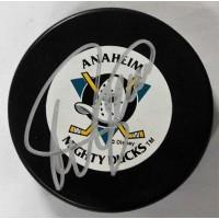 Teemu Selanne Anaheim Mighty Ducks Signed NHL Hockey Puck JSA Authenticated