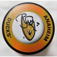 Clayton Stoner Signed Anaheim Ducks Hockey Puck JSA Authenticated