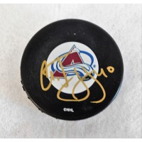 Alex Tanguay Colorado Avalanche Signed Hockey Puck JSA Authenticated