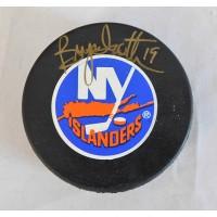 Bryan Trottier New York Islanders Signed Hockey Puck JSA Authenticated
