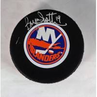 Bryan Trottier New York Islanders Signed Hockey Puck JSA Authenticated
