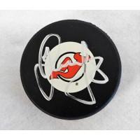 Dainius Zubrus New Jersey Devils Signed Hockey Puck JSA Authenticated