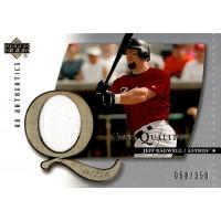 Jeff Bagwell Houston Astros 2003 UD Authentics Star Quality Card #SQ-JB 58/350