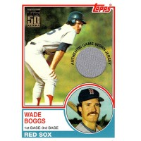 Wade Boggs Boston Red Sox 2000 Topps 1983 Reprint Jersey Relic Card #498