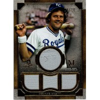 George Brett 2019 Topps Museum Collection Primary Pieces Quad Relics Jersey /10