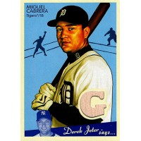 Miguel Cabrera Detroit Tigers 2008 Upper Deck Goudey Memorabilia Bat Card #M-MI