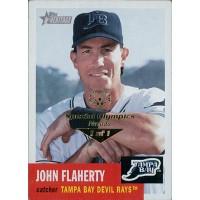 John Flaherty Rays 2002 Topps Heritage Card #217 Special Olympics Nevada 1/1