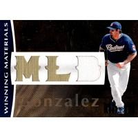 Adrian Gonzalez San Diego Padres 2008 SPX Winning Materials Card #WM-AG /125